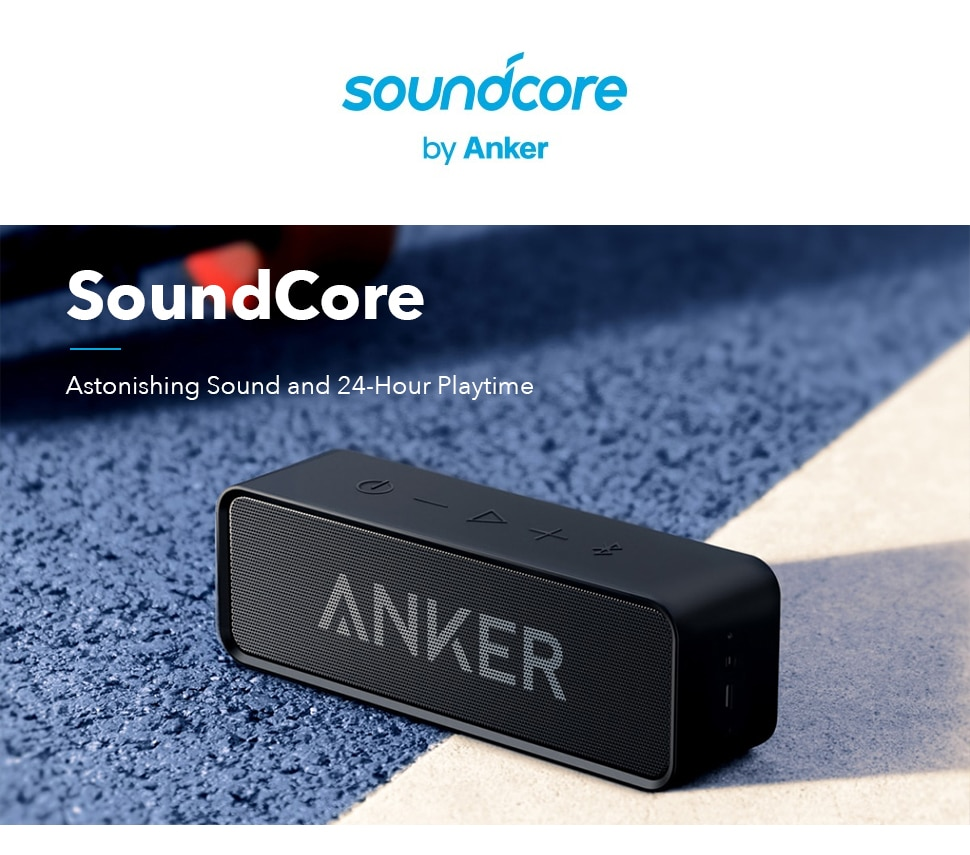 H28b2b11faebd436b9e452ecd1f3f86e2v - Anker Soundcore Portable Wireless Bluetooth Speaker with Dual-Driver Rich Bass 24h Playtime 66 ft Bluetooth Range & Built-in Mic