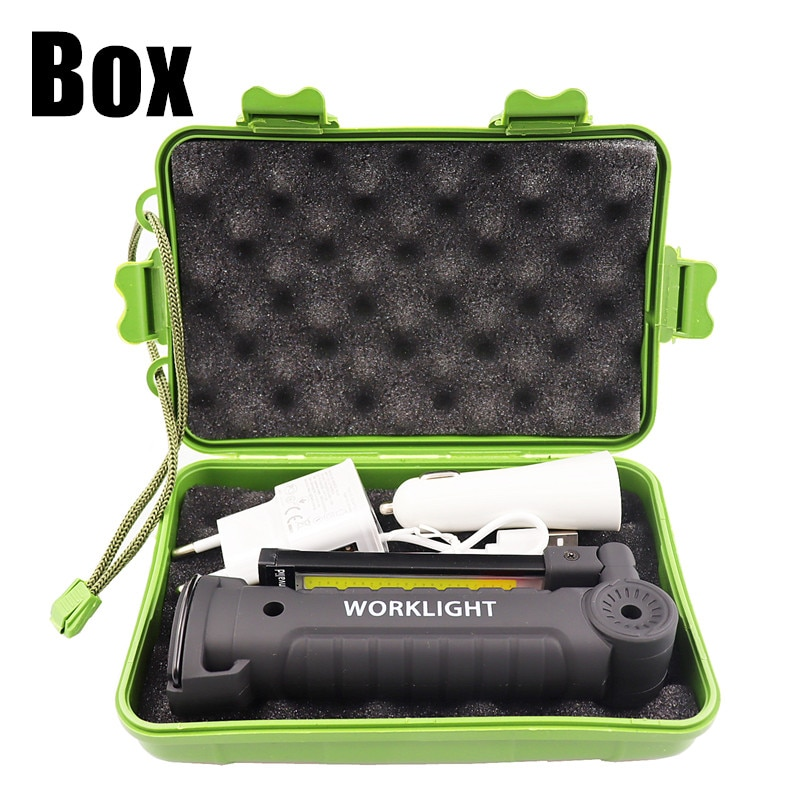 H293ae894766b454cafc9bbce023c38c7E - USB Rechargeable With Built-in Battery Set Multi Function Folding Work Light COB LED Camping Torch Flashlight