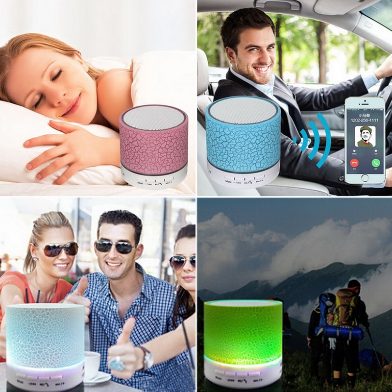 H29786f8681b049e498ab102193c37e5d9 - Mini LED Portable Speakers Wireless Speaker With TF Mic Bluetooth-compatible Music For Phone