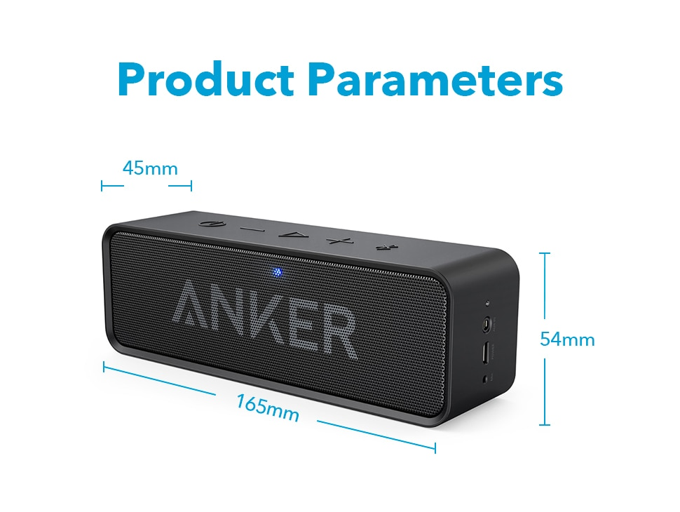 H2e134a15b554414cb19fbcd8f1002ee9O - Anker Soundcore Portable Wireless Bluetooth Speaker with Dual-Driver Rich Bass 24h Playtime 66 ft Bluetooth Range & Built-in Mic