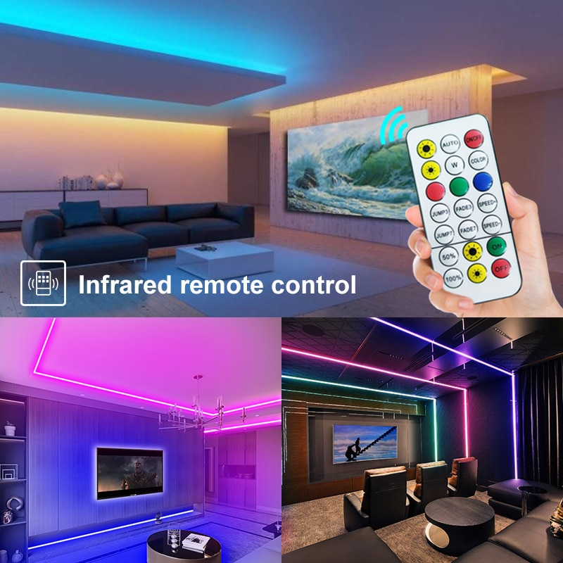 H2e26dd3db4114e22a1253a14dcded4008 - 30M-5M Bluetooth LED Strip Lights RGB Warm White Waterproof Flexible Ribbon 2835 Led Light lamp RGBWW SMD Tape Diode for room