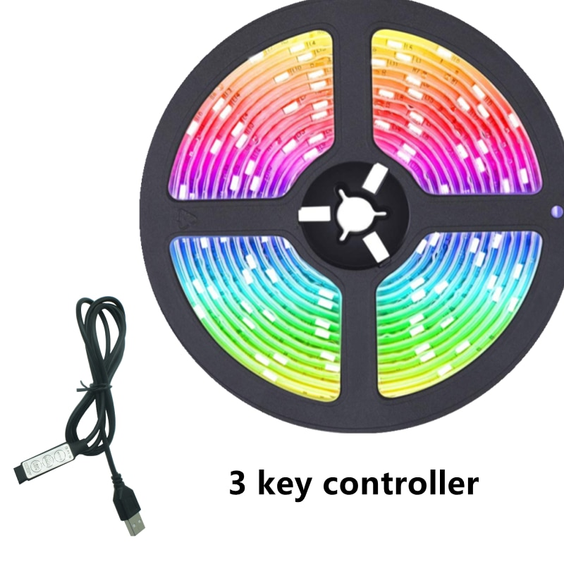H2f0a228f397d434e948239a6af505a58U - LED Light Bar RGB 2835 Color Bluetooth USB Infrared Remote Control Flexible Light With Diode DC5V TV Backlight Suitable For Home