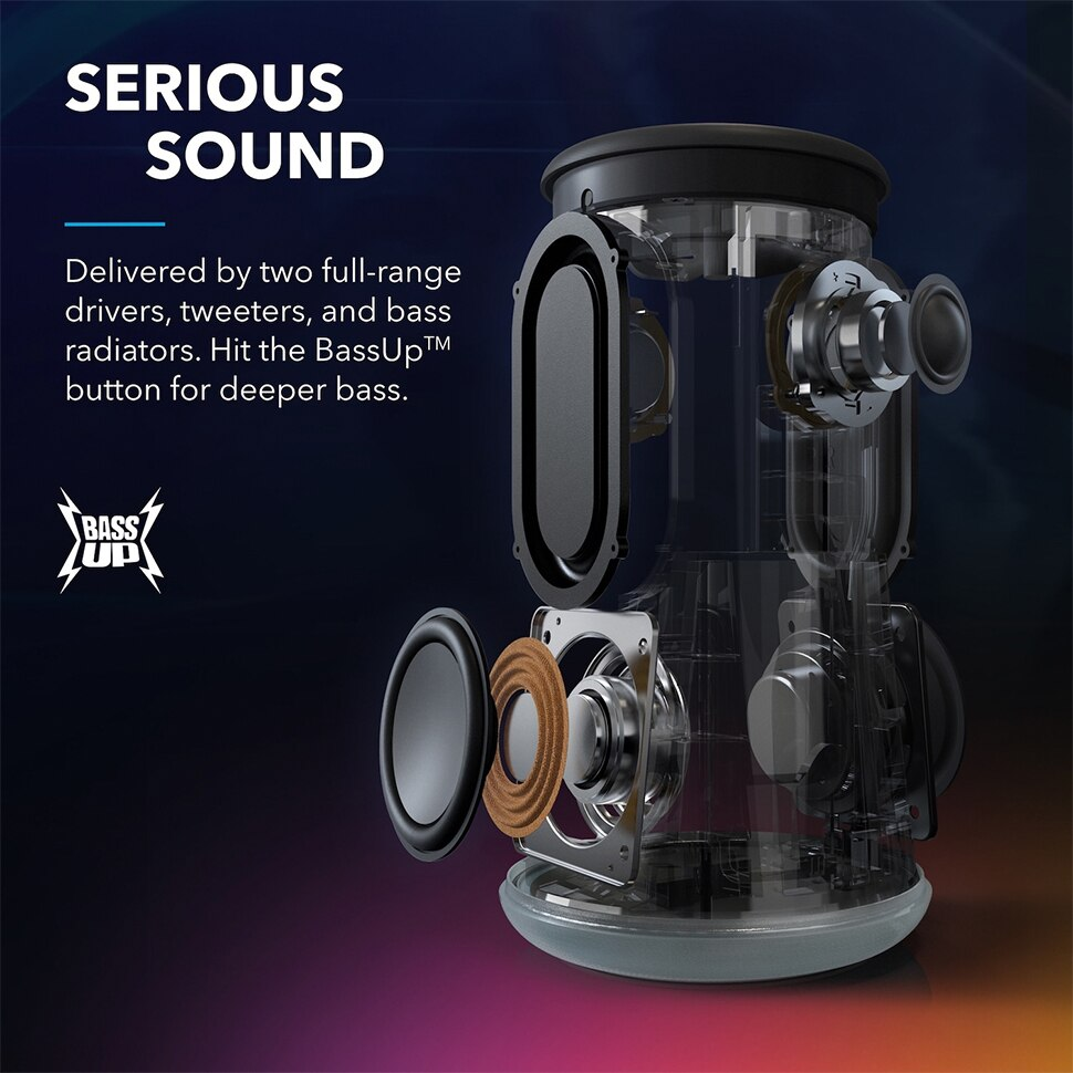 H2f1e0588e11449a0933871e92753b6a8x - Soundcore Flare Portable Bluetooth Speaker by Anker Huge 360' Sound IPX7 Waterproof Bigger Bass Ambient LED 20 -Hour Playtime