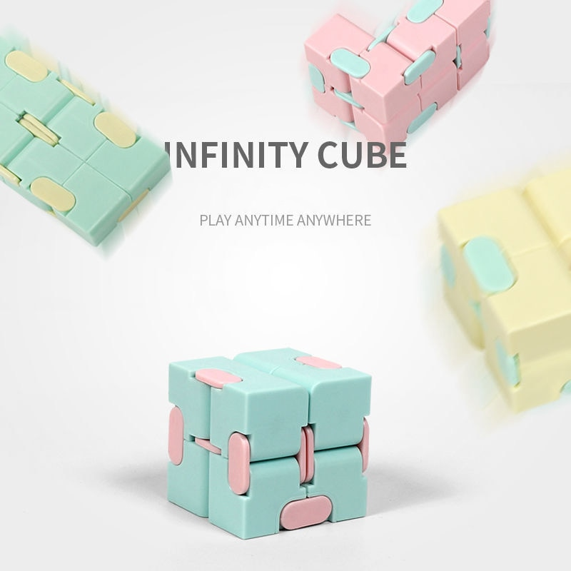 H30b2d8e52a5549e7b5194f671e1b684f6 - Antistress Infinite Cube Infinity Cube Office Flip Cubic Puzzle Stress Reliever Autism Toys Relax Toy For Adults