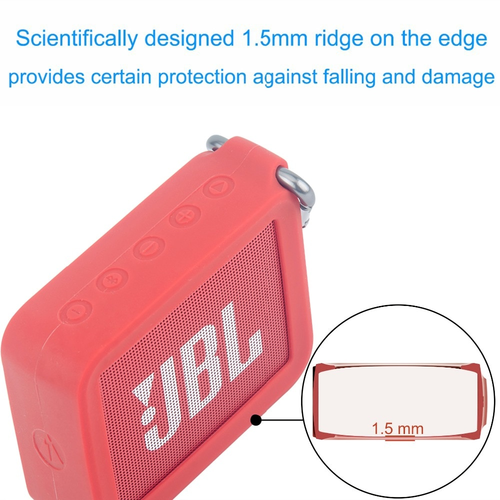 H3592468720834a26ae30c364c737a4f2J - New Portable Silicone Case Protective Travel Case Soft Silica Gel Storage Pouch Audio Case for JBLGO2 GO2 Bluetooth Speakers