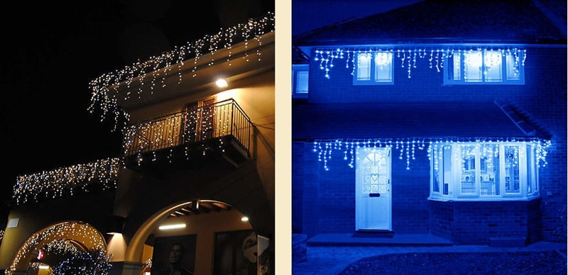 H371a9a54c8ec4fdab33fafd2f2347bf1g - 5M Christmas Garland LED Curtain Icicle String Lights Droop 0.4-0.6m AC 220V Garden Street Outdoor Decorative Holiday Light