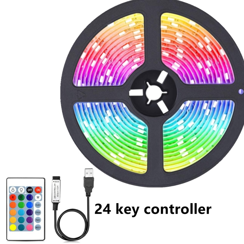 H3a29c460baf3456b81b7c2e62d0975d8u - LED Light Bar RGB 2835 Color Bluetooth USB Infrared Remote Control Flexible Light With Diode DC5V TV Backlight Suitable For Home