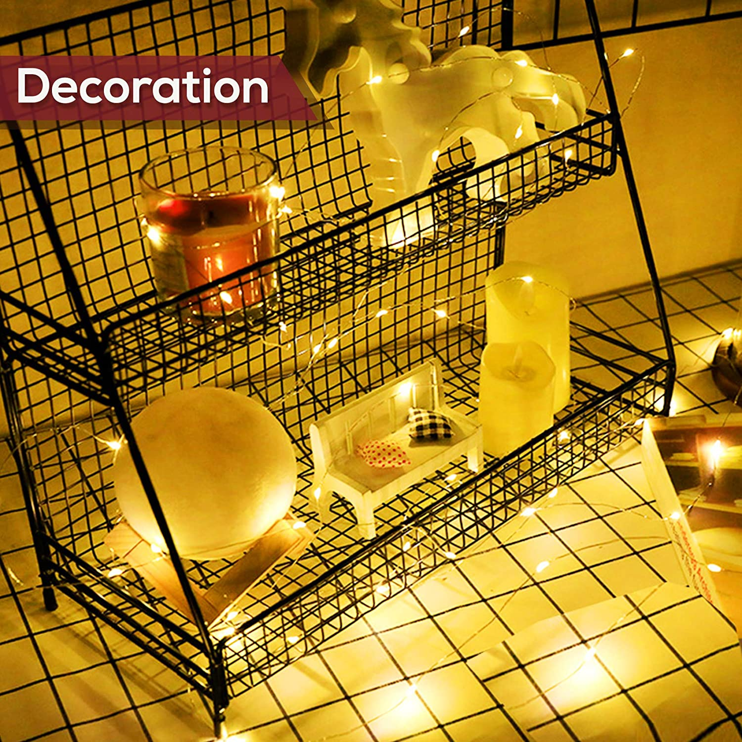 H411c3368f9a84b539d2e15e79e294228l - Led Fairy Lights Copper Wire String 1/2/5/10M Holiday Outdoor Lamp Garland Luces For Christmas Tree Wedding Party Decoration