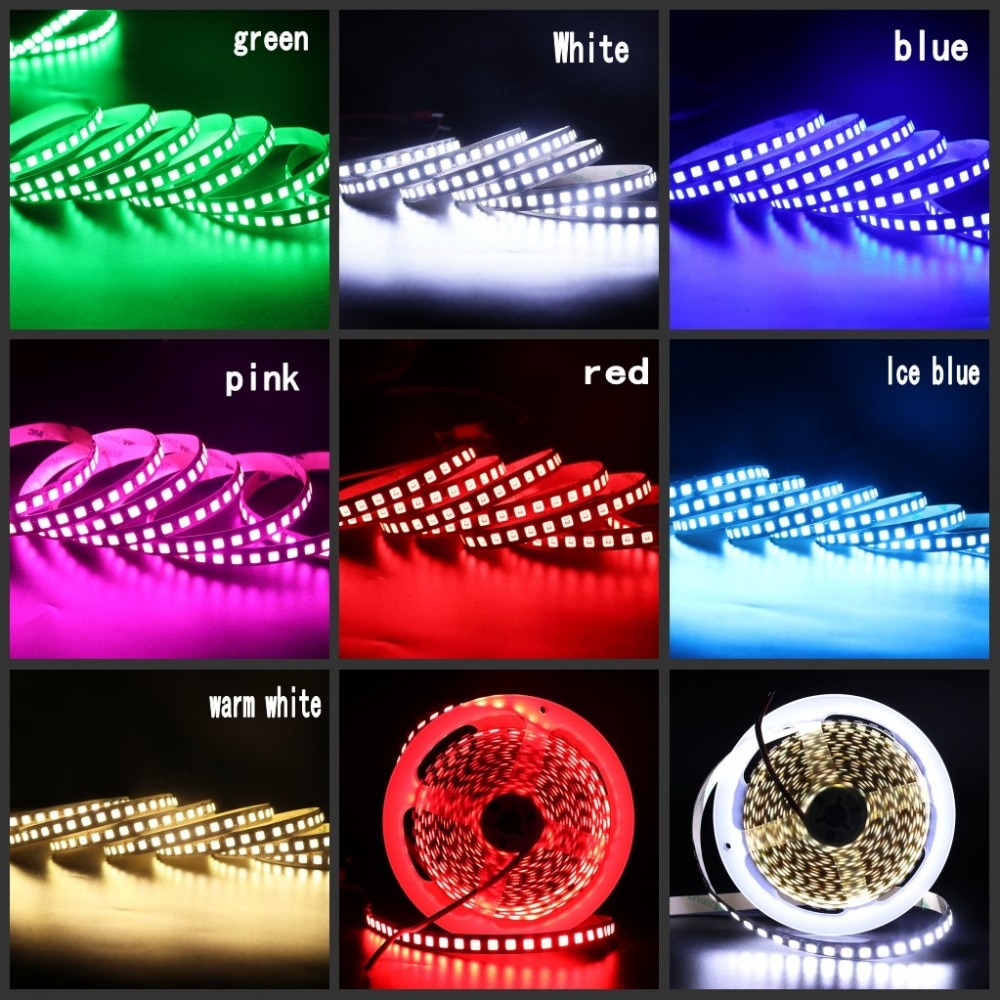 H430aec86395643b7ae742f7ea81341420 - 5M LED Strip Light 5054 5050 SMD 120led 60LED 240LED 2835 5630 12V DC Waterproof Flexible LED Tape for Home Decoration 10 Colors