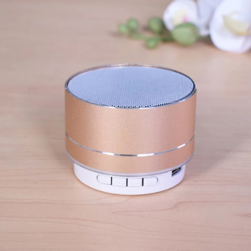 H4b30f111e8d749a59dd2b1fef9d7a0e86 - A10 Wireless Bluetooth Audio Small Steel Cannon Subwoofer Mini Portable Gift Card Bluetooth Speaker