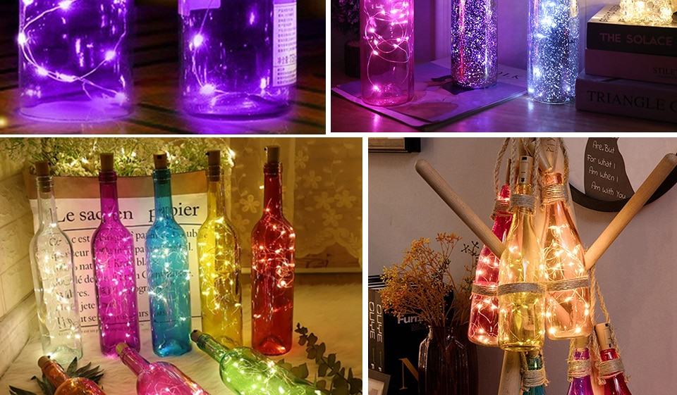 H4de223de9b9b42b992446a51eccec954D - 1M 2M Wine Bottle Lights With Cork LED String Light Copper Wire Fairy Garland Lights Christmas Holiday Party Wedding Decoration
