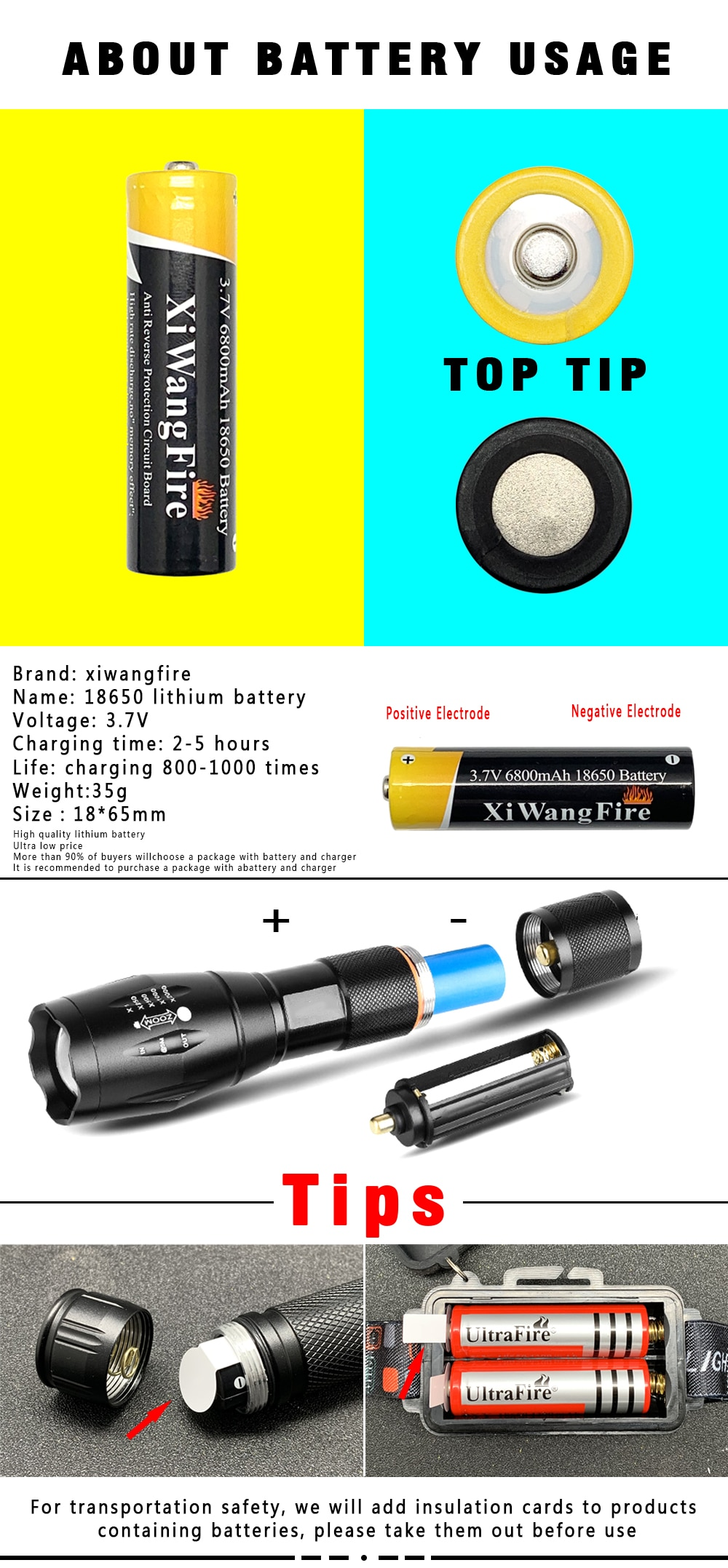 H4f28905dad3447a8a457eab812eab3c3Z - Portable Powerful LED Lamp XML-T6 Flashlight Linterna Torch Uses 18650 Chargeable Battery Outdoor Camping Tactics Flash Light