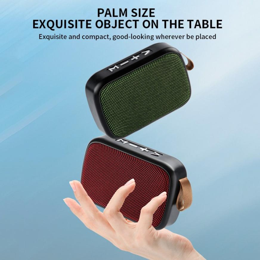 H50688f56db5d4734afd8727b3bfa7314p - G2 New Wireless Fabric Bluetooth Speaker Small Portable Cannon Mini Voice Broadcast The Card Instert Vehicular Audio System