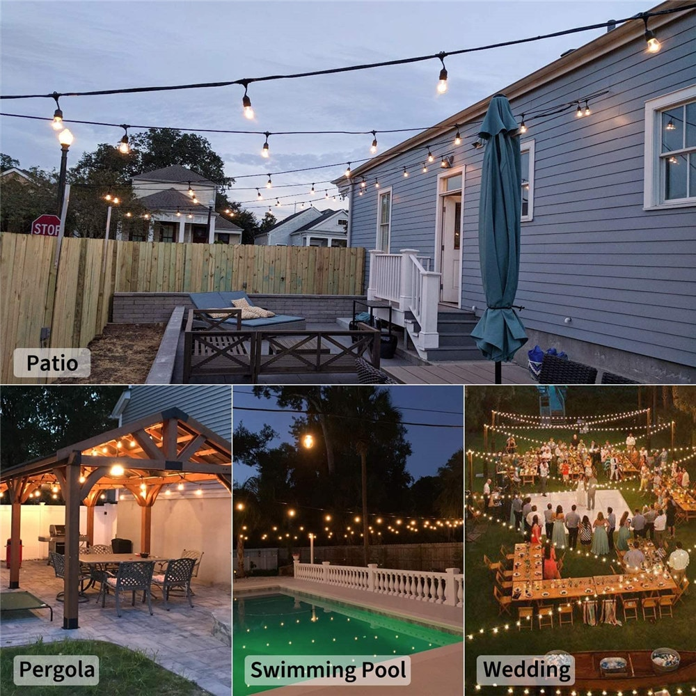 H50fc5a85100f4395afc1bf3b01f7477e5 - IP65 Commercial Grade 15M LED Party Lights Outdoor S14 LED String Light For Patio Garden Holiday Wedding Lights