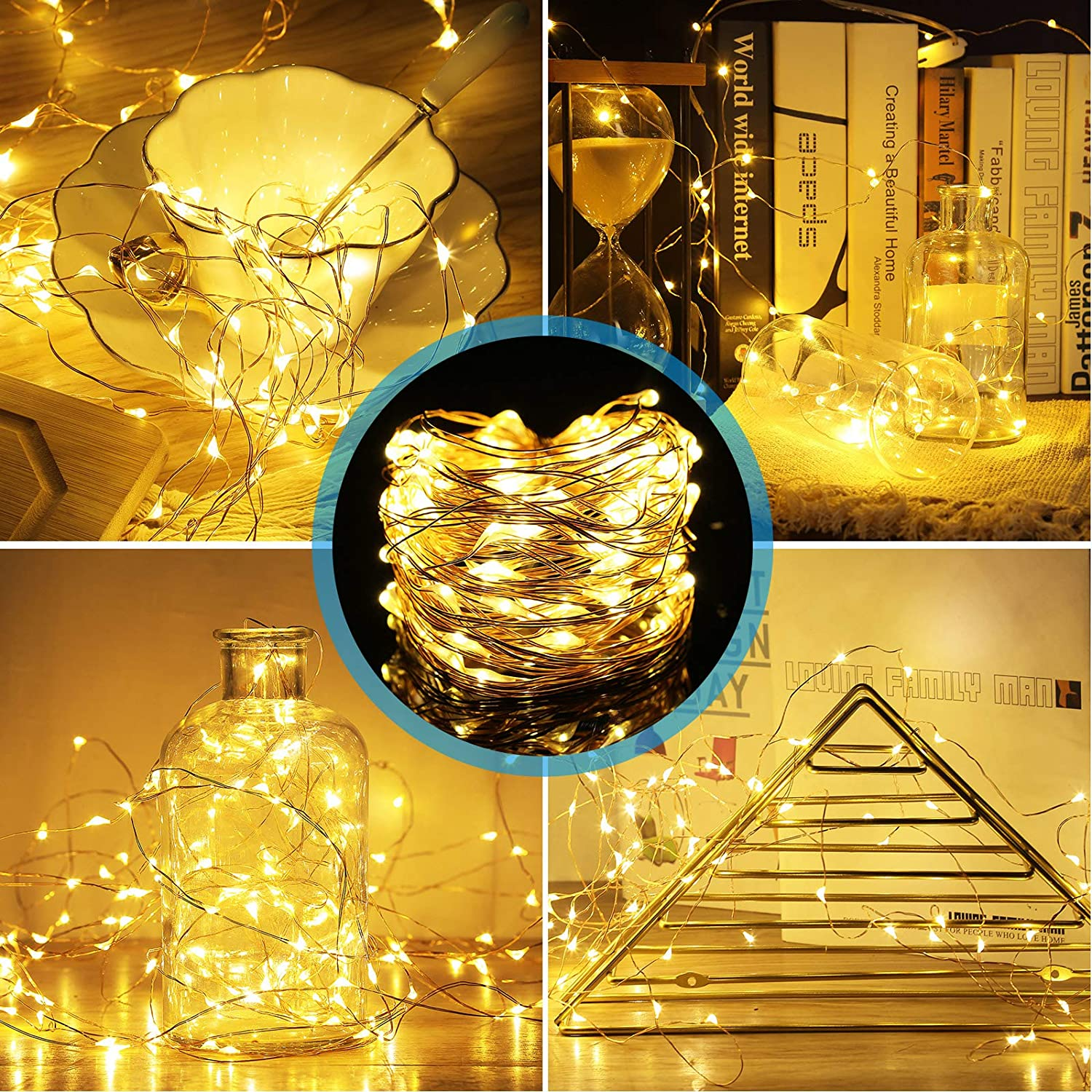 H51309494ce624bc087b3482b8e967196p - Led Fairy Lights Copper Wire String 1/2/5/10M Holiday Outdoor Lamp Garland Luces For Christmas Tree Wedding Party Decoration