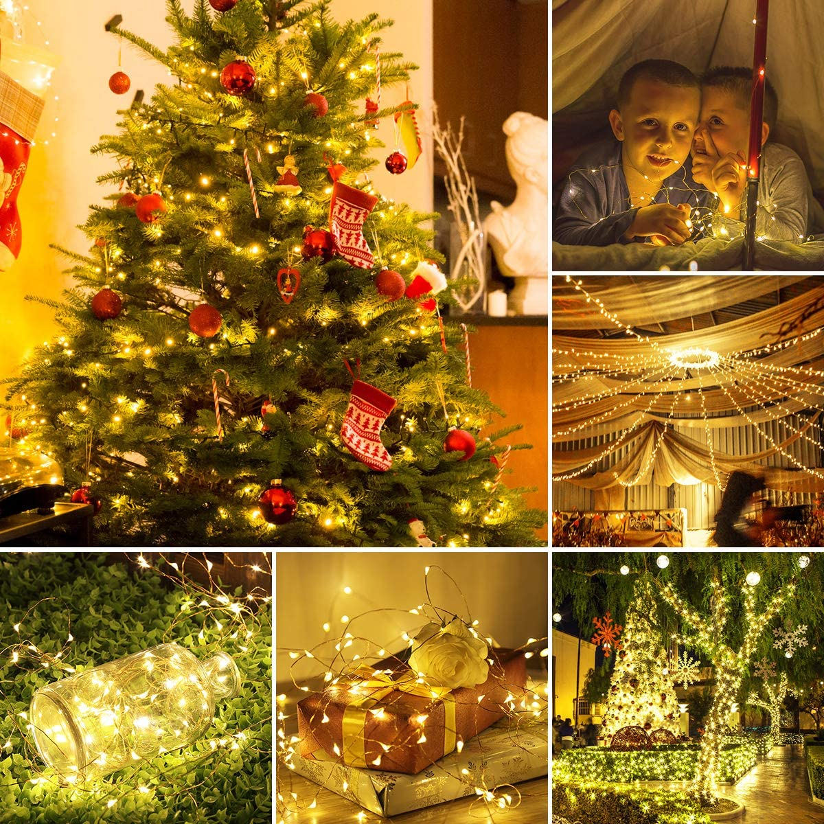 H54f2ff65da0a49a7998aacd5ce52c15fr - Led Fairy Lights Copper Wire String 1/2/5/10M Holiday Outdoor Lamp Garland Luces For Christmas Tree Wedding Party Decoration