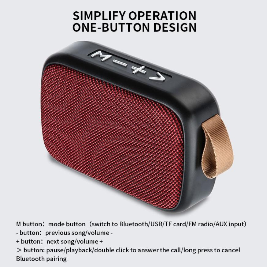 H5b0fb3763ec84ae9b61aee2614aeb2ede - G2 New Wireless Fabric Bluetooth Speaker Small Portable Cannon Mini Voice Broadcast The Card Instert Vehicular Audio System