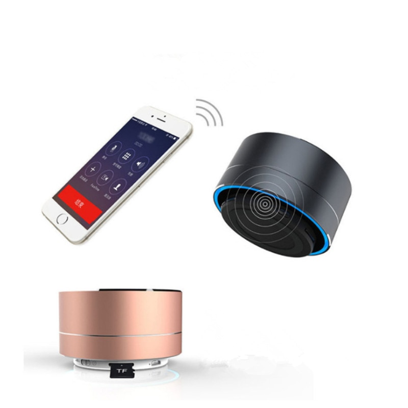 H5f145ac8d4734c73a0f58abdda9d4887G - A10 Wireless Bluetooth Audio Small Steel Cannon Subwoofer Mini Portable Gift Card Bluetooth Speaker