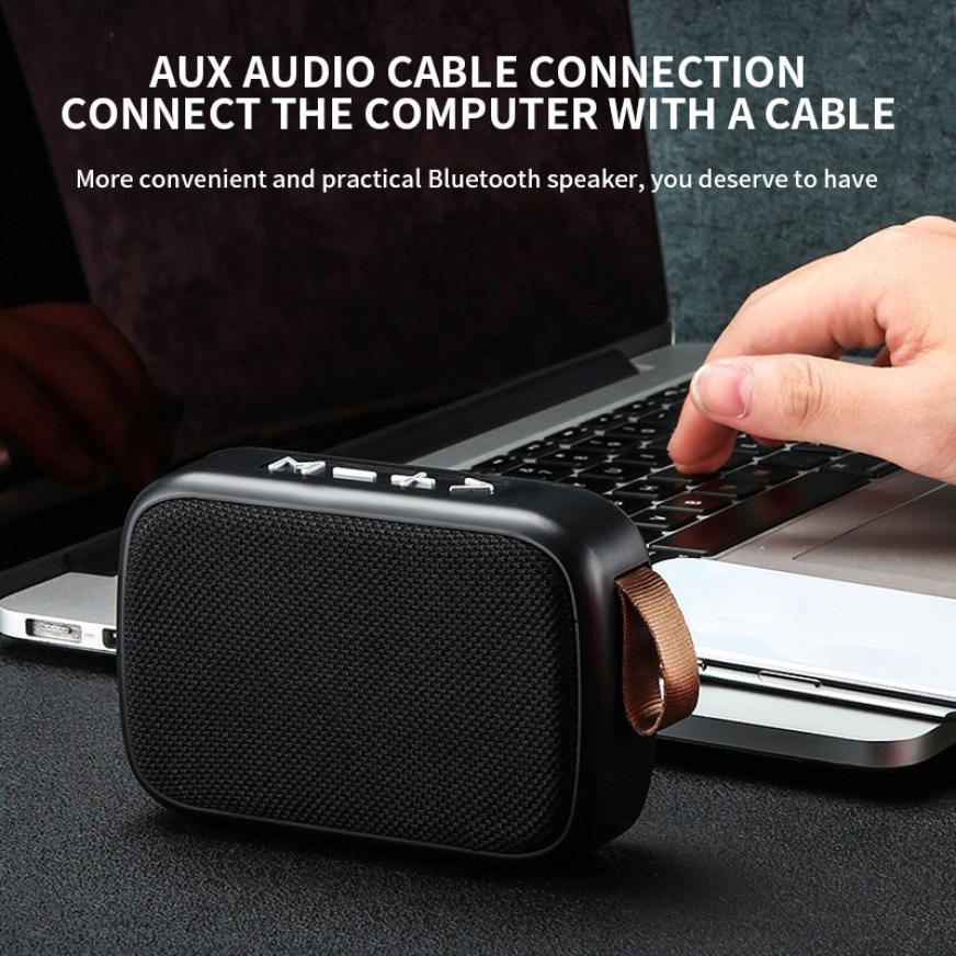 H5fb597a5637c48b582cbe6c8db23227d8 - G2 New Wireless Fabric Bluetooth Speaker Small Portable Cannon Mini Voice Broadcast The Card Instert Vehicular Audio System
