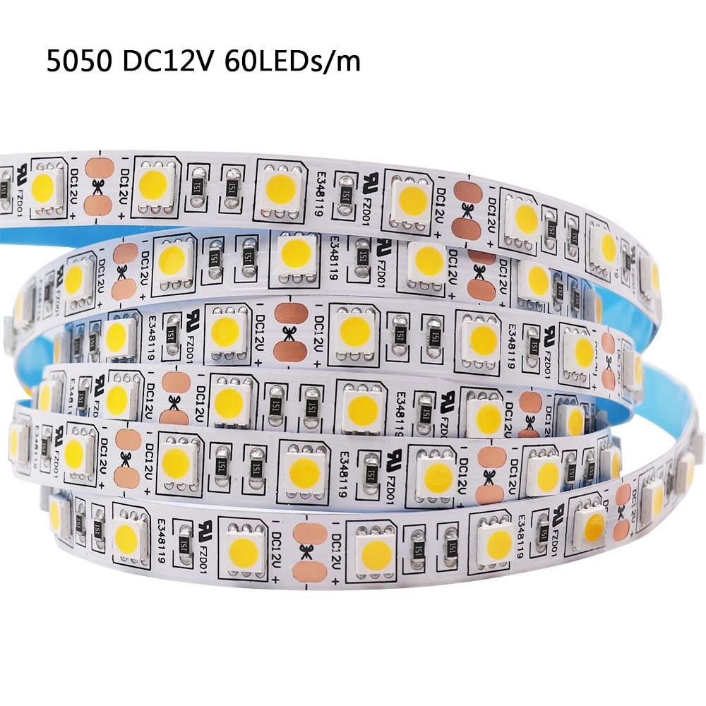 H604795ec1b6540d08203d4c118da6193O - 5M LED Strip Light 5054 5050 SMD 120led 60LED 240LED 2835 5630 12V DC Waterproof Flexible LED Tape for Home Decoration 10 Colors