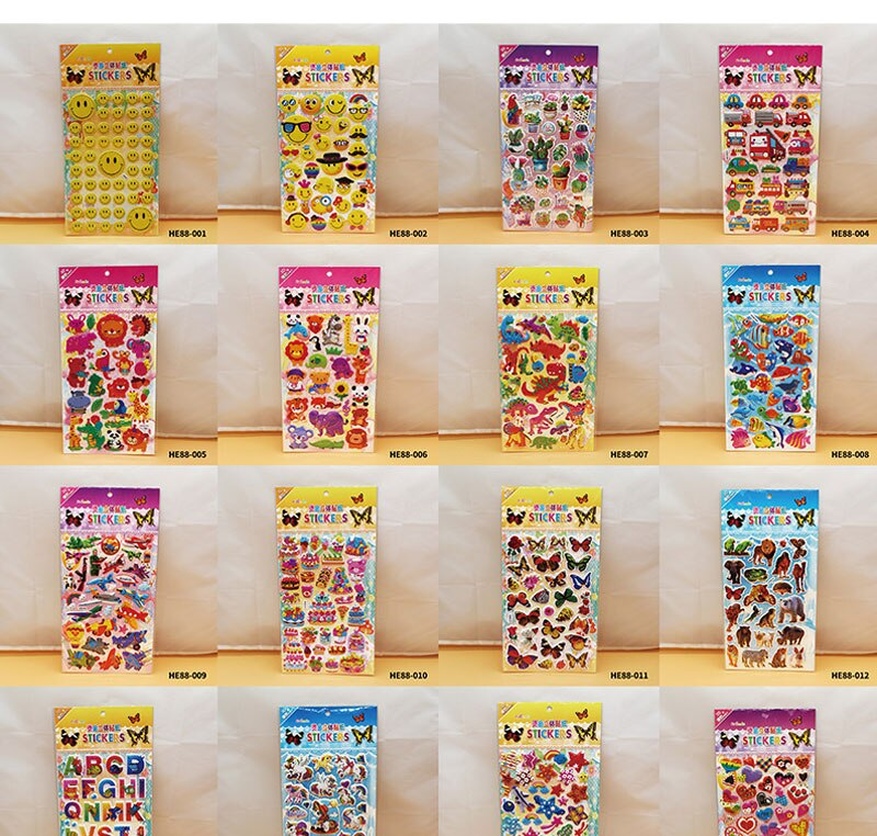 H61a32d115a1b4225a7f483ed3b9c3104j - 3D Children Cartoon Bubble Stickers Education Classic Toy Kids Toddlers Cute Girls Dress Up Princess Stickers Birthday Gift