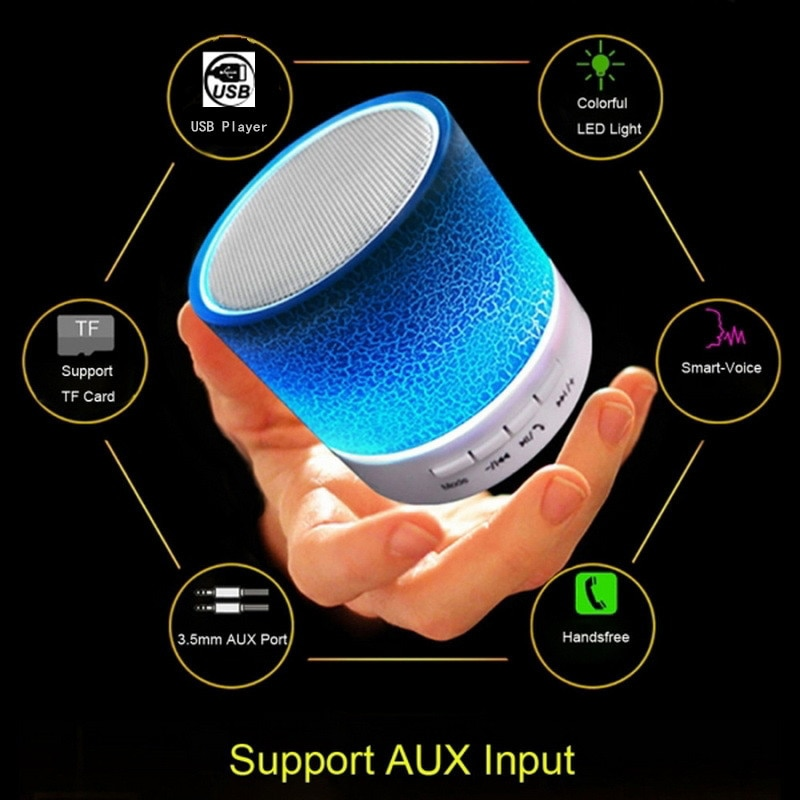 H61df49aebdd148ab9d84ab4369396402J - Mini LED Portable Speakers Wireless Speaker With TF Mic Bluetooth-compatible Music For Phone