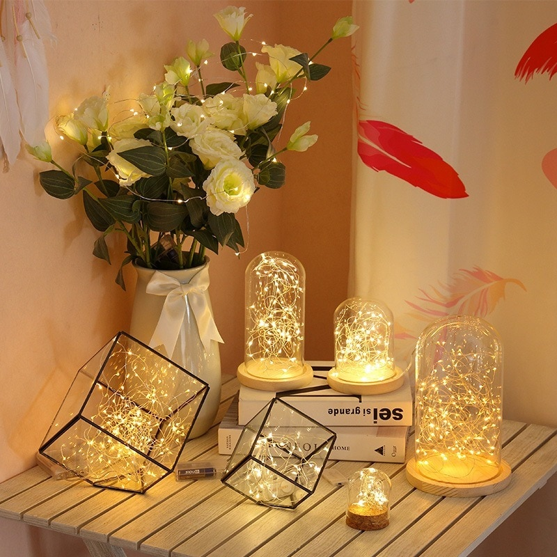 H625057d057d64f17bbe692f05b2ac5edf - 2/5/10/20M USB LED String Lights Copper Silver Wire Garland Light Waterproof Fairy Lights For Christmas Wedding Party Decoration