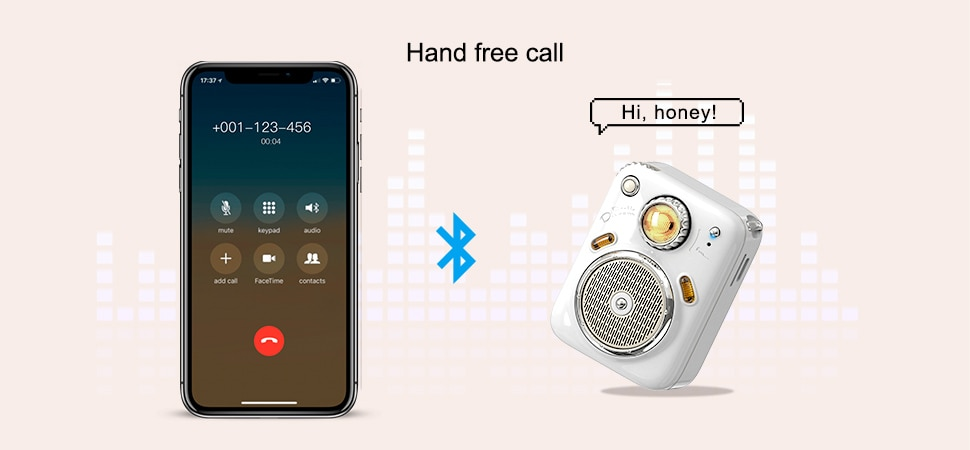H626071bf00ea47db9f30467557525e55G - Divoom Beetles Mini Bluetooth Speaker with FM Radio,Cute Portable Outdoor Wireless Speaker ,Long Battery Life Support TF Card