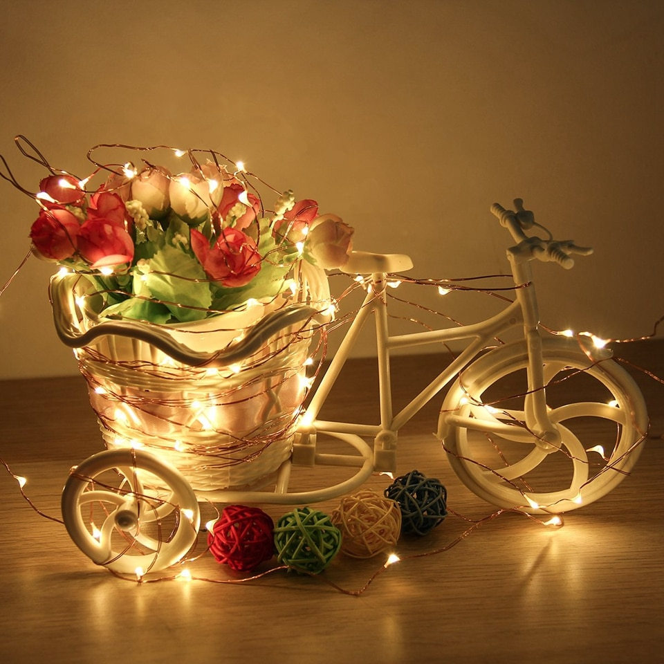H69c007a42544490791be98f327bf59a9a - 50/100/200/330 LED Solar Light Outdoor Lamp String Lights For Holiday Christmas Party Waterproof Fairy Lights Garden Garland