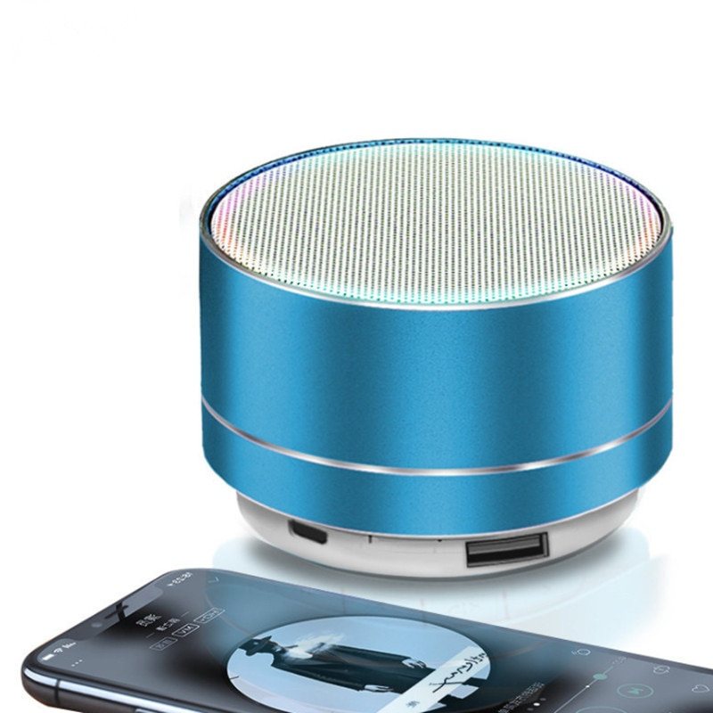 H69f2da2d1f114eca9c8a5069c592bdb2C - A10 Wireless Bluetooth Audio Small Steel Cannon Subwoofer Mini Portable Gift Card Bluetooth Speaker