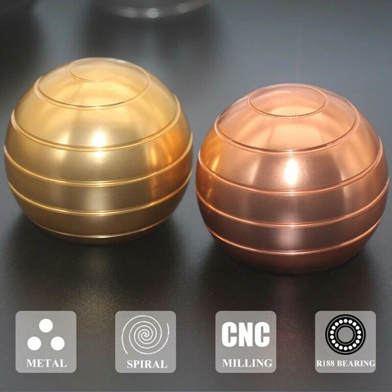 H6e0d3c2c9b334f8799cd8e1313cb06f5J - Fidget Toys Metal Gyro Desktop Ball Rotary Gyro Aluminum Alloy Round Metal Kinetic Decompression Toy