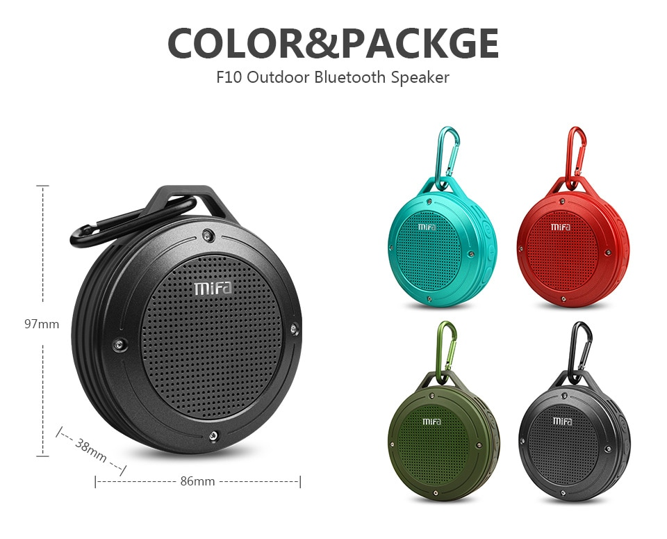 H7037498893444dc3a9b03628c8b80934Y - MIFA F10 Outdoor Wireless Bluetooth Stereo Portable Speaker Built-in mic Shock Resistance IPX6 Waterproof Speaker with Bass