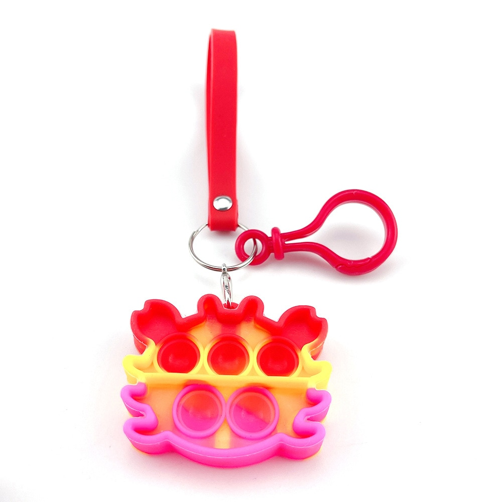 H70798783b7aa494599549fbf0e266d6fx - Push Bubble Simple Dimple Sensory Toy Keychain For Children Adults Anti Stress Reliever Fidget Toys Kids Decompression Gift