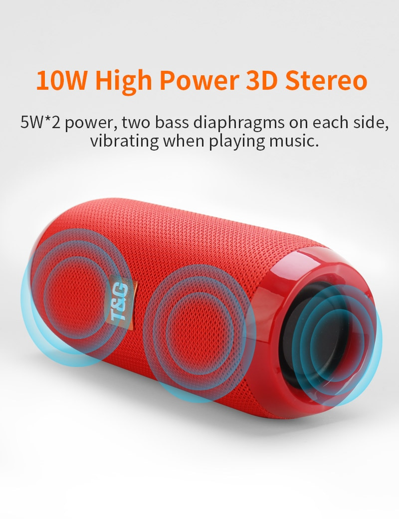 H768a70641c4b4ed7a9ad12f217c8732fw - Portable Bluetooth-compatible Speaker Wireless Bass Column Waterproof Outdoor USB Speakers Support AUX TF Subwoofer Loudspeaker