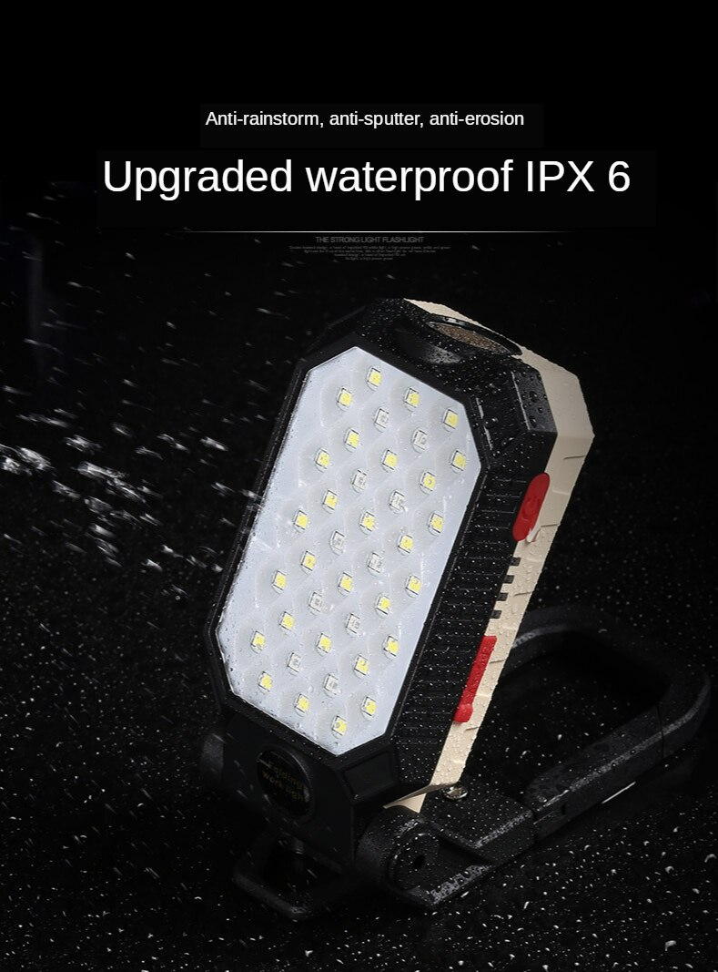 H7b0bbdb0de1e4092aff99ad489df715bb - ZHIYU LED COB Rechargeable Magnetic Work Light Portable Flashlight Waterproof Camping Lantern Magnet Design with Power Display