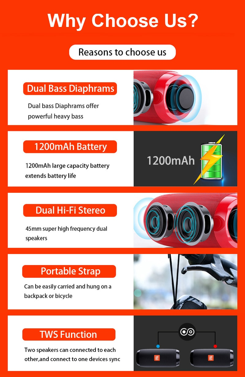 H7ee94b12f0ad4e59a4def31379486070X - Portable Bluetooth Speaker Wireless Bass Subwoofer Waterproof Outdoor Speakers Boombox AUX TF USB Stereo Loudspeaker Music Box
