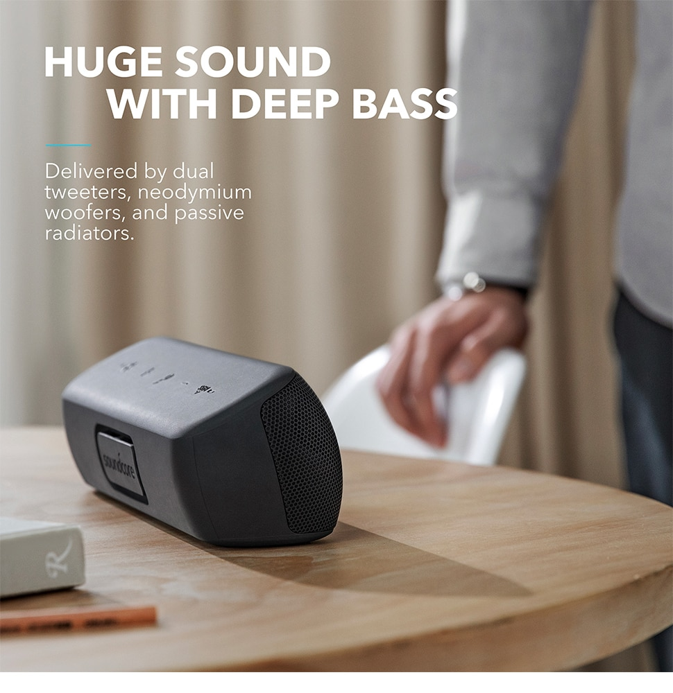 H80d422cf33e94985a1f616a81f948ac5Y - Anker Soundcore Motion Bluetooth Speaker with Hi-Res 30W Audio, Extended Bass and Treble, Wireless HiFi Portable Speaker
