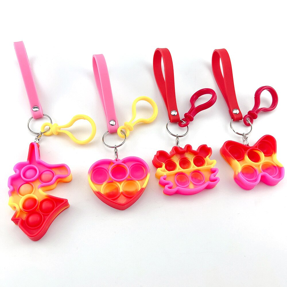 H81625e789f9448568cce6a16b1d32e5cS - Push Bubble Simple Dimple Sensory Toy Keychain For Children Adults Anti Stress Reliever Fidget Toys Kids Decompression Gift