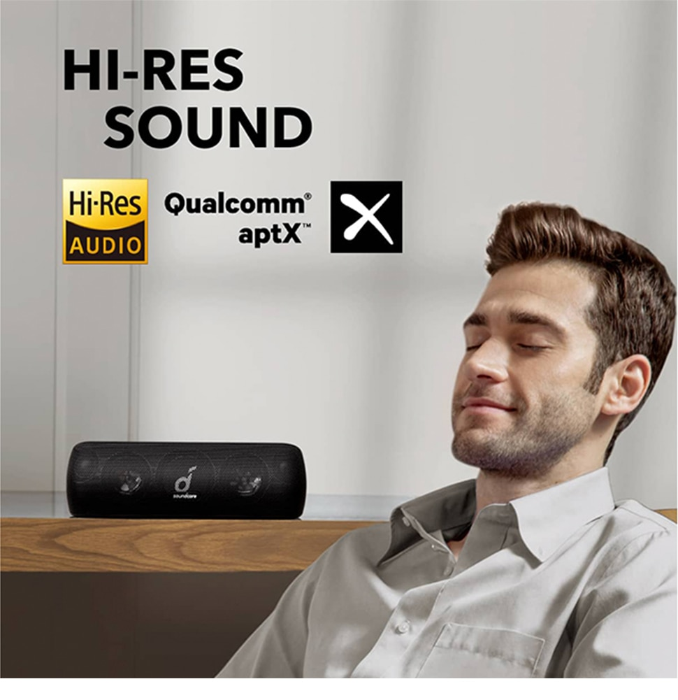 H82c69671a65b4cb8ba21f49a788163dbm - Anker Soundcore Motion Bluetooth Speaker with Hi-Res 30W Audio, Extended Bass and Treble, Wireless HiFi Portable Speaker
