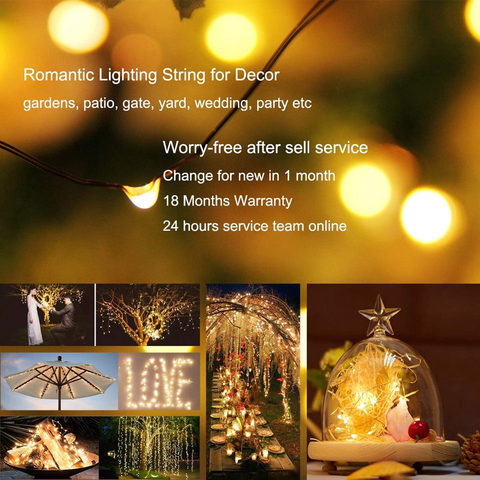 H83a812c916444b818175ae0163aeb83cM - 50/100/200/330 LED Solar Light Outdoor Lamp String Lights For Holiday Christmas Party Waterproof Fairy Lights Garden Garland
