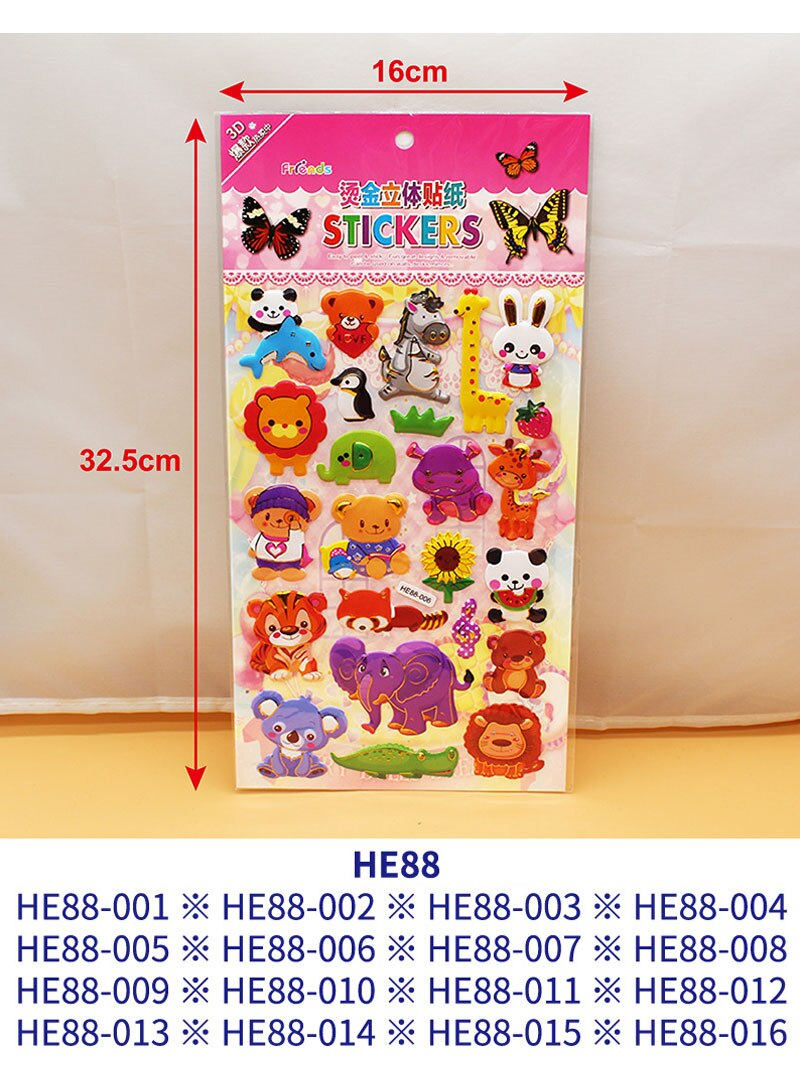 H845b7982276c441ca8478e5509d7a8e8o - 3D Children Cartoon Bubble Stickers Education Classic Toy Kids Toddlers Cute Girls Dress Up Princess Stickers Birthday Gift