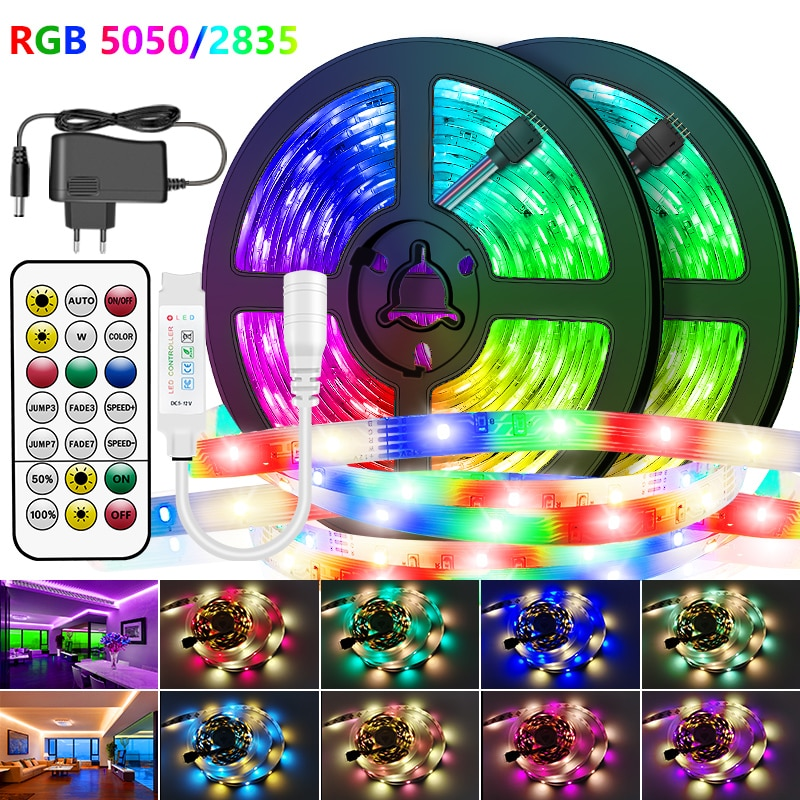 H84f9c4892c5f4a3c8313db0e8b5ac4a63 - 30M-5M Bluetooth LED Strip Lights RGB Warm White Waterproof Flexible Ribbon 2835 Led Light lamp RGBWW SMD Tape Diode for room