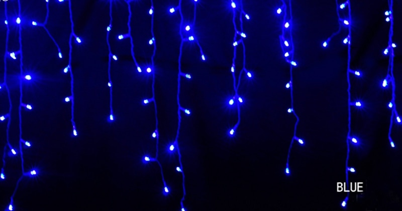 H85db8d28e23542a58a0714a011430c15K - 5M Christmas Garland LED Curtain Icicle String Lights Droop 0.4-0.6m AC 220V Garden Street Outdoor Decorative Holiday Light