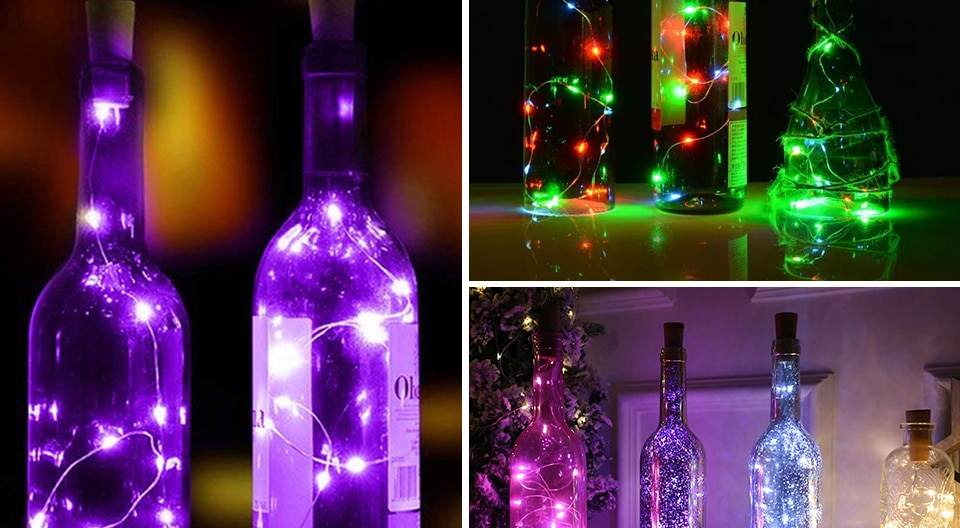 H8a91a1ce8495453c8f3de3d263617caak - 1M 2M Wine Bottle Lights With Cork LED String Light Copper Wire Fairy Garland Lights Christmas Holiday Party Wedding Decoration