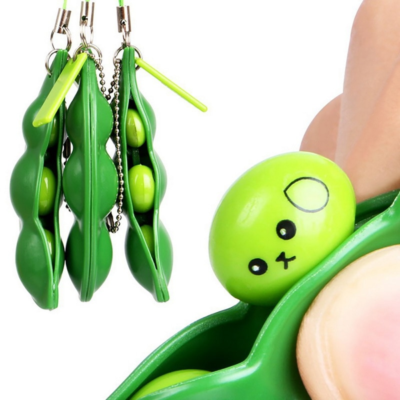 H8bbf080bb39f45258765476a04bbce5bi - Fidget Squishy Toys Decompression Antistress Toys Squeeze Peas Beans Keychain Relief for Adult Kids Rubber Stress Reliever Toy