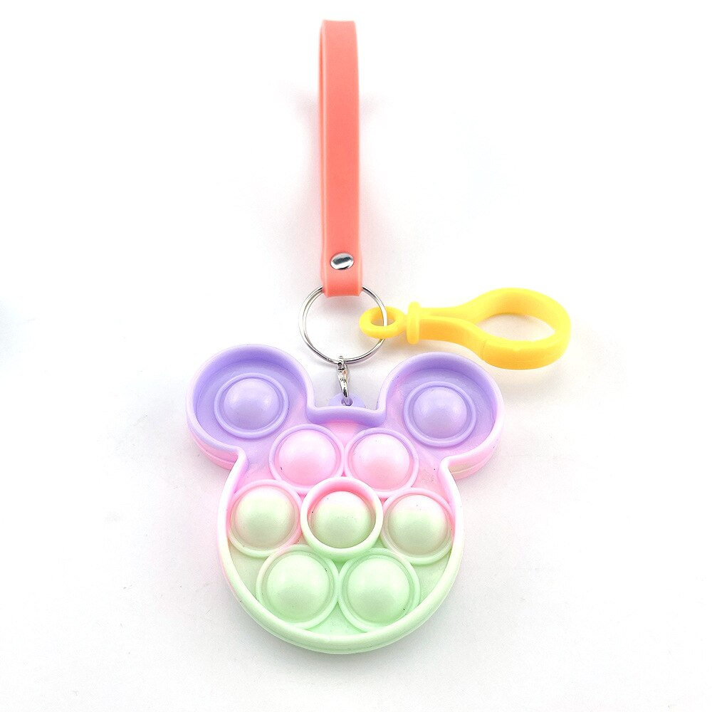 H902d38e6b32e4e068a4f59763c8c0b757 - Push Bubble Simple Dimple Sensory Toy Keychain For Children Adults Anti Stress Reliever Fidget Toys Kids Decompression Gift