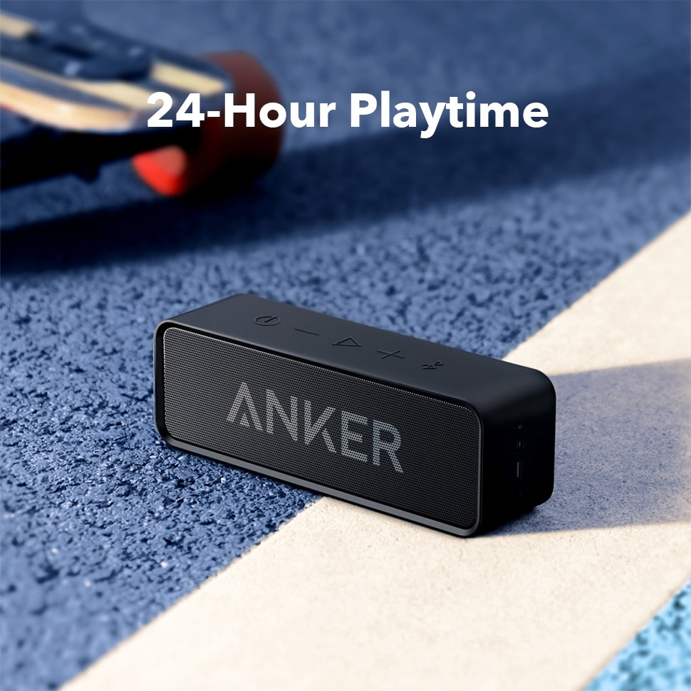 H90a0f15a942b46ff957069eda3dc7e90d - Anker Soundcore Portable Wireless Bluetooth Speaker with Dual-Driver Rich Bass 24h Playtime 66 ft Bluetooth Range & Built-in Mic