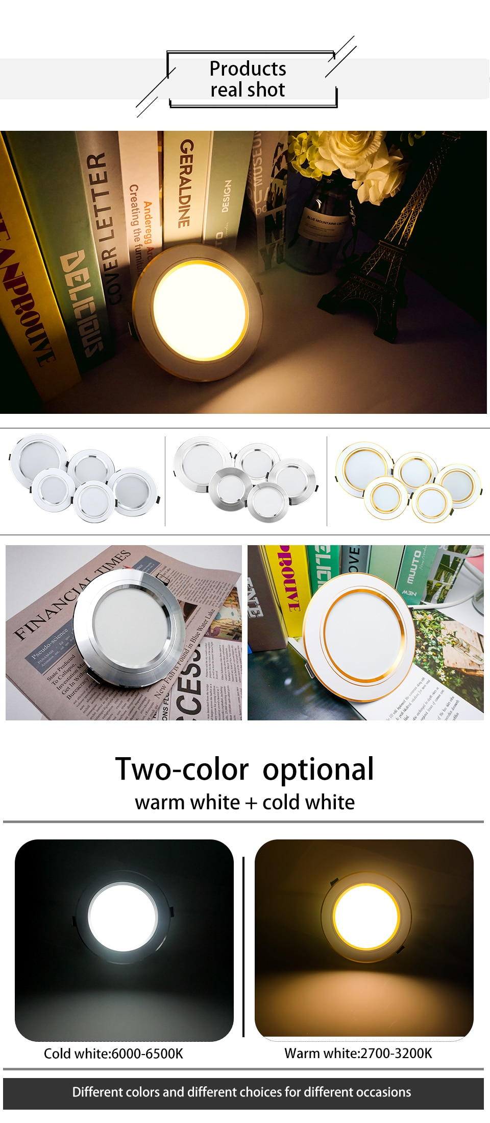 H90f2dfccda1448448862bbd83cc0c4794 - 10pcs/lot LED Downlight 5W 9W 12W 15W 18W Recessed Round LED Ceiling Lamp AC 220V-240V Indoor Lighting Warm White Cold White