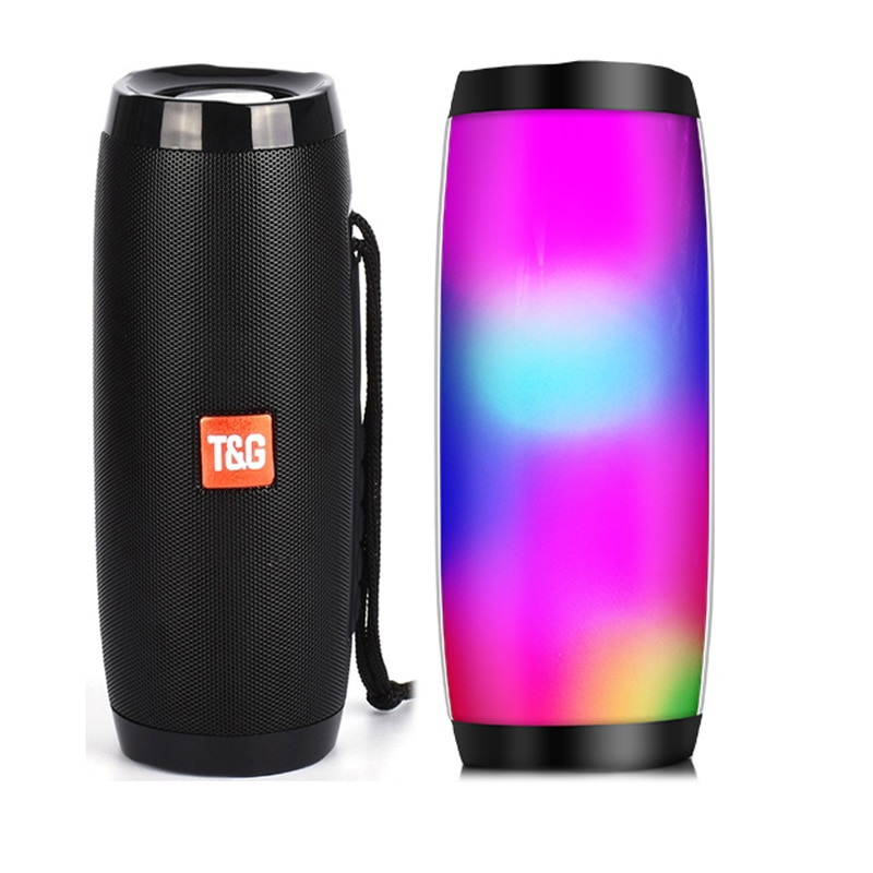 H928f2f9b6c3941e7bfbcf5be09a96db46 - Wireless Speaker Bluetooth-compatible Speaker Microlab Portable Speaker Powerful High Outdoor Bass TF FM Radio with LED Light