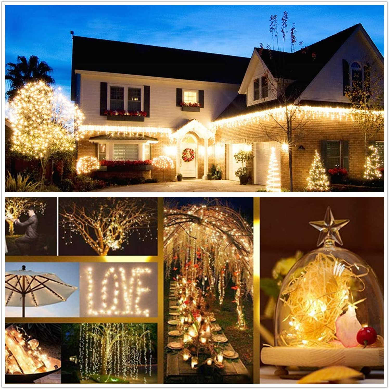 H930e04eac06e4636a7e489db91165f92N - 50/100/200/330 LED Solar Light Outdoor Lamp String Lights For Holiday Christmas Party Waterproof Fairy Lights Garden Garland